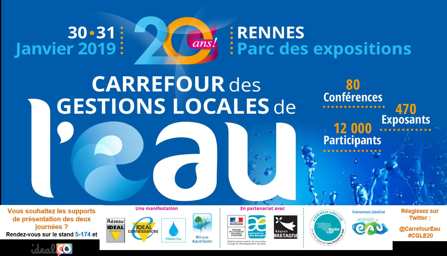 Bannière Carrefour des gestions locales de l'eau