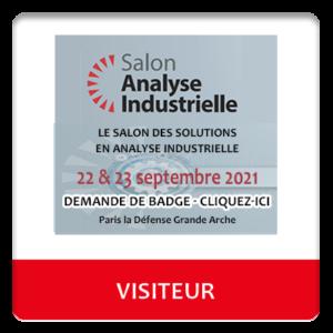 Badge visiteur salon Analyse Industrielle