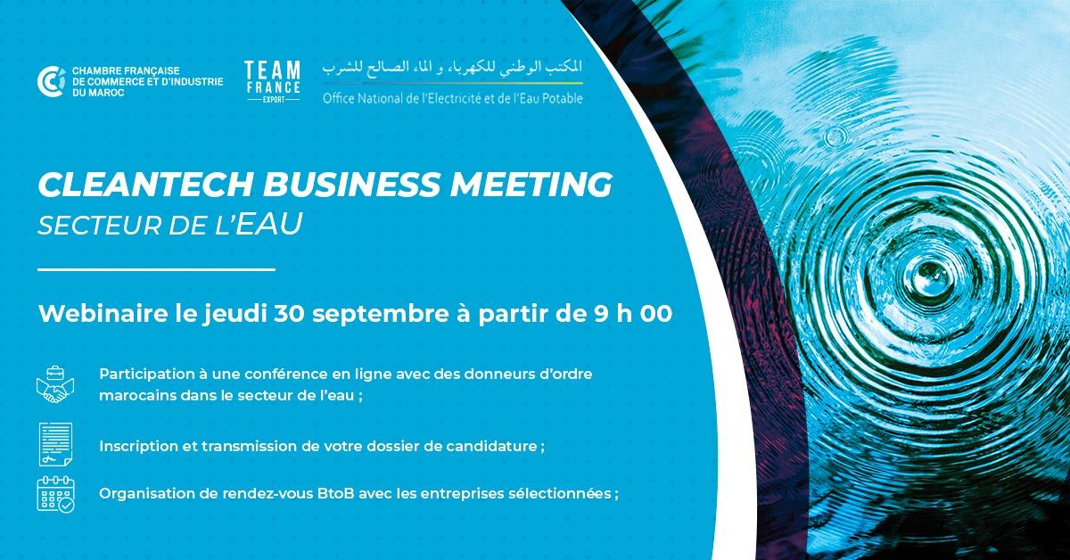 Cleantech Business Meeting secteur de l'eau
